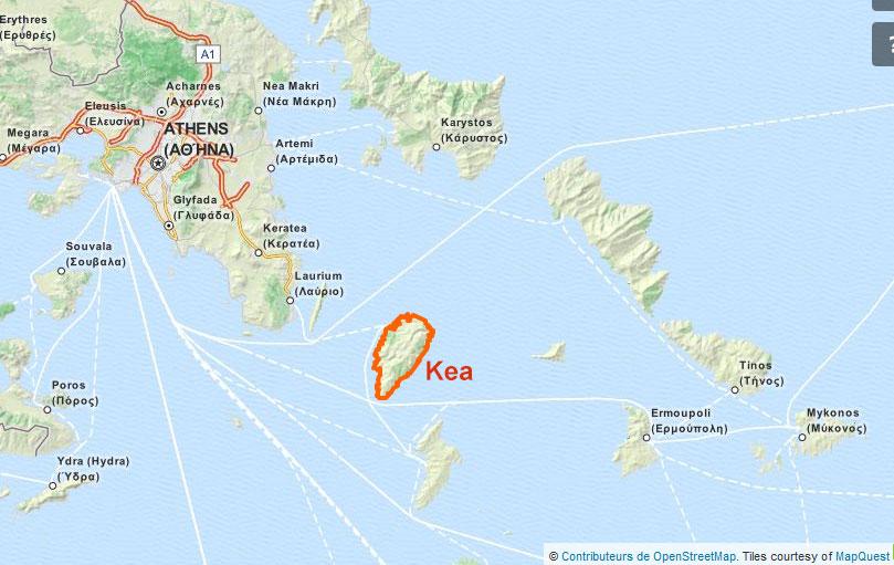 Kea La Sauvage Info Grece Com