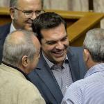 A cours de la nuit de vendredi à samedi, les propositions du gouvernement Grec aux créanciers ont reçu le feu vert de la part des parlementaires. - AFP PHOTO / ANDREAS SOLARO