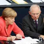 Angela Merkel et Wolfgang Schauble. © EPA