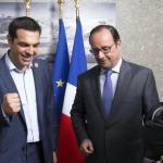 Alexis Tsipras, François Hollande et Jack Lang en Egypte le 6 août 2015.