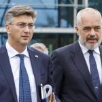 Andrey Plenkovich, le Premier ministre de la Croatie et Edi Rama le Premier ministre de l'Albanie.