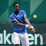 Gaël Monfils lors de la Coupe Davis. (N. Luttiau/L'Équipe)
