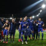 L'Olympiakos de Mathieu Valbuena, au centre, jouera à huis clos en Ligue Europa jeudi. (C. Wilson/Presse Sports)