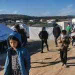 Dans le camp de Kara Tepe, à Lesbos, le 19 décembre.