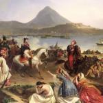 Rencontre entre le général Nicolas Joseph Maison et Ibrahim Pacha, à Navarin (actuel Pylos, Grèce), en septembre 1828, huile sur toile de Jean Charles Langlois. ©Bridgeman Images/Leemage