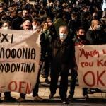 «Non au meurtre de Dimitris Koufodinas» clament les manifestants. - afp