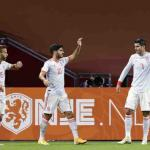 Sergio Canales, Marco Asensio Alvaro Morata sont titulaires avec l'Espagne. (Koen Van Weel/ANP SPORT/PRESSE SPORTS/Presse Sports)