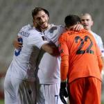 Chypre a battu la Slovénie. (Y. Kourtoglu/Reuters)