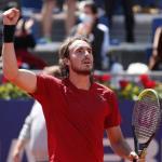 Stefanos Tsitsipas a remporté les 17 derniers jeux qu'il a disputés. (A. Gea/Reuters)