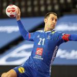 Michaël Guigou a inscrit son 1 000e but avec l'équipe de France mardi. (N. Luttiau/L'Équipe)