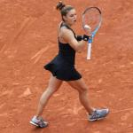 Maria Sakkari ce lundi sur le court Suzanne-Lenglen. (N.Luttiau/L'Équipe)
