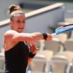Maria Sakkari est dans le dernier carré d'un Grand Chelem pour la première fois de sa carrière. (P. Lahalle/L'Équipe)