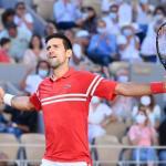 Novak Djokovic ce dimanche sur le court Philippe-Chatrier. (P.Lahalle/L'Équipe)