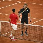 Novak Djokovic et Stefanos Tsitsipas se retrouvent en finale ce dimanche. (B. Papon/L'Équipe)