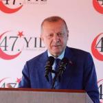 Le président turc, Recep Tayyip Erdogan, lors de sa visite officielle dans la République turque de Chypre du Nord, le 20 juillet. Murat Cetinmuhurdar/PPO/via REUTERS