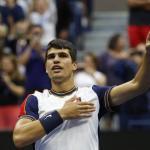 Carlos Alcaraz après son succès face à Tsitsipas. (Reuters)