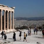 Visite au sommet de l'Acropole. (AP)