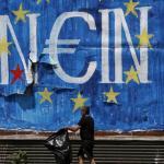 En Grèce, un graffiti où figure le mot «Non» en allemand. Crédits photo : © Yannis Behrakis / Reuters/REUTERS