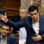 Le Premier ministre grec Alexis Tsipras au parlement grec. Un vote sur le plan d'aide doit avoir lieu cette nuit. Image: Keystone