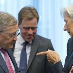 La question de l'allègement de la dette grecque figure au coeur des discussions entre l'Europe et le Fonds monétaire international, et notamment entre le patron du Mécanisme européen de stabilité (MES), Klaus Regling, et Christine Lagarde - Virginia Mayo/AP/SIPA
