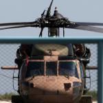 L'hélicoptère militaire turc à bord duquel huit officiers s'étaient enfuis en Grèce le 16 juillet 2016 après le coup d'Etat manqué en Turquie