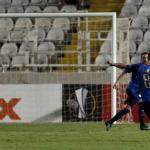 L'Apollon Limassol a égalisé le score lors de la deuxième mi-temps de la rencontre. @ MATTHIEU CLAVEL / AFP