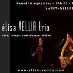 Elisa Vellia trio : affiche Saint-Gilles, sept. 2014