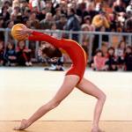 La jeune Nina Dipla en compétition au Palais des sports à Thessalonique. (Photo DR)