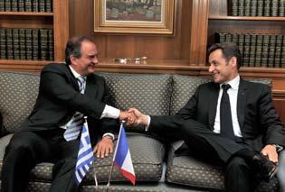 MM. Caramanlis et Sarkozy