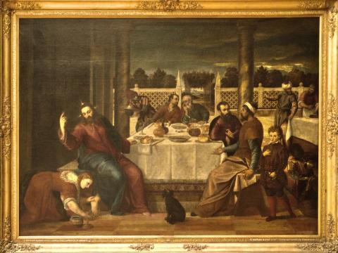 Bonifazio Veronese, Jésus chez Simon le Pharisien, 1520-1550 ap. J-C, Palais des Beaux Arts Bruxelles