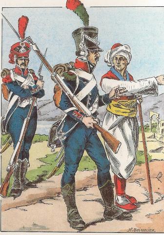 Chasseurs d'Orient à Corfou en 1809