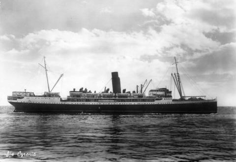 Le Cyrenia de Hellenic Mediterranean Lines Ltd en 1947. Archive de P. Berti
