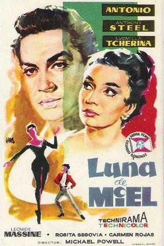 L'affiche de Luna de miel, version espagnole de Honeymoon, le film de Michael Powell