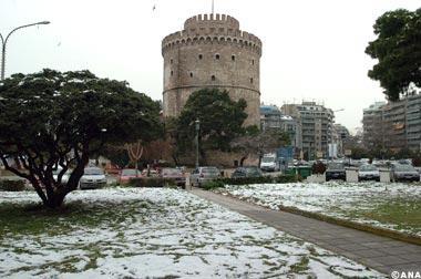 thessaloniki neige