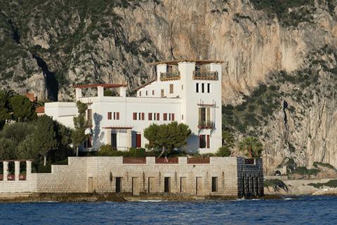Villa Kerylos vue de la mer