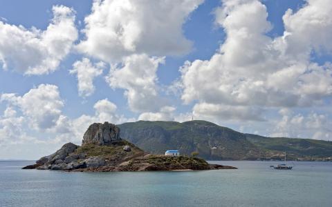 L'îlot de Kastri au large de l'île de Kos © GNTO