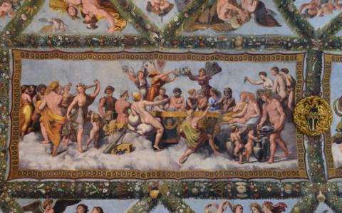 Le Banquet des dieux, Villa Farnésine, Loge de Psyché. Raphaël, 1516-1518.