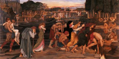 The Waters of Lethe by the Plains of Elysium, John Roddam Spencer Stanhope, 1880, Manchester City Galleries