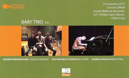 Baby Trio en concert