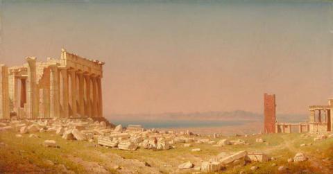 Sanford Robinson Gifford, Ruines du Parthénon, 1880, Washington, National Gallery of Art