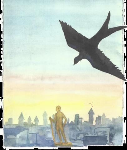 Le Prince heureux d'Oscar Wilde par Angélique Ionatos. © Illustration Alicia Marsans