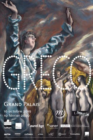 """Affiche de l'exposition """"Greco"""" au Grand Palais"""