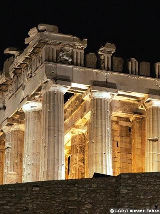 Le Parthénon de nuit