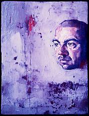 Portrait d'Olivier Delorme par le peintre Tomas Watson qui a élu domicile à Andros.