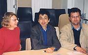Philippe Brunet entre la présidente et le vice-président de Démodocos