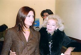 Katerina Didaskalou avec son amie fidèle, l'écrivain Despoina Lelekou-Tataki, soeur d'Irène Papas.