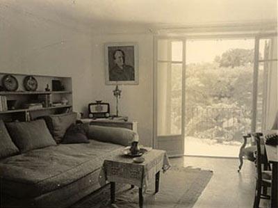 Le salon de la maison du couple Kazantzaki, à Antibes