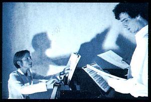 Répétition de Fôtini Zôi : Frédéric Tavernier au chant ; Delphine Dumoulin au piano