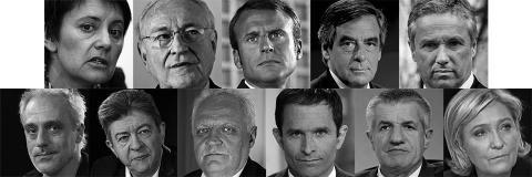 Les candidats à l'élection présidentielle 2017 en France