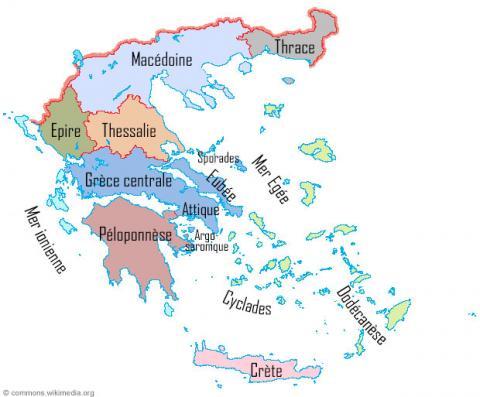 Régions de Grèce